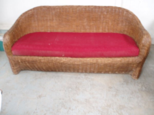 11A: Wicker sofa and chair.