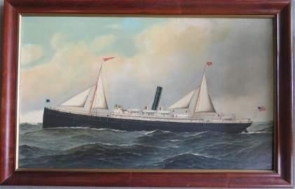 Antonio Jacobsen, NY, NJ, Denmark 1850-1921.  O/C