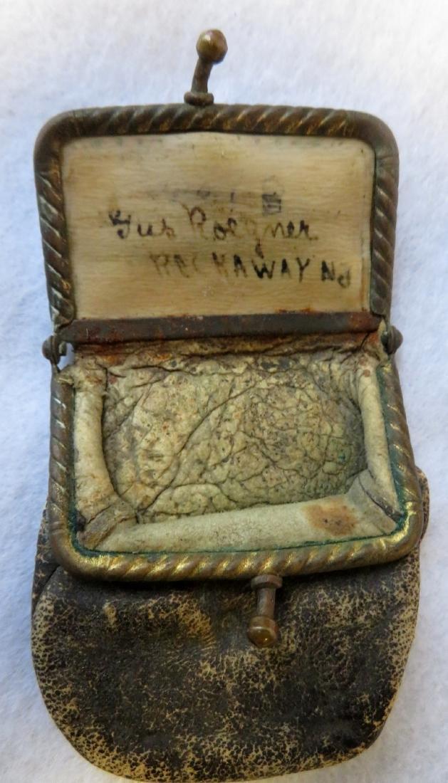Civil War patriotic purse + 1864 2 cent coin. - 4