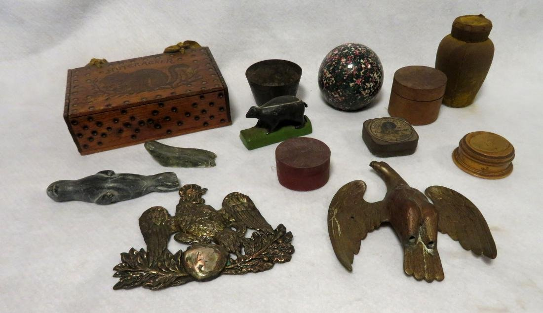 A grouping of mostly country collectibles.