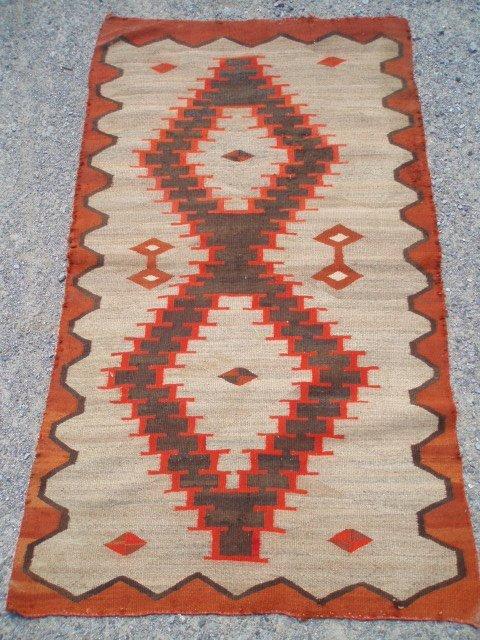 501: Navaho rug circa 1900. Good condition. No repairs.
