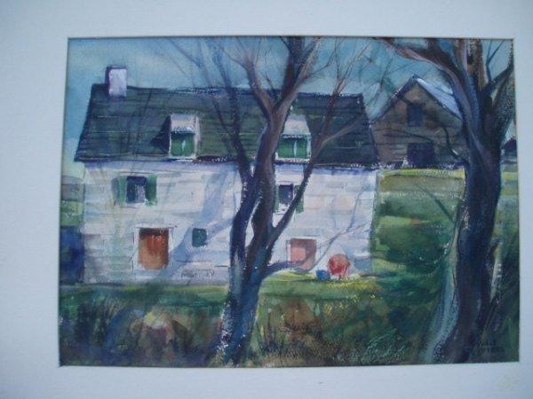 522: W/C Stone house probably Ulster County NY. 10 x 13