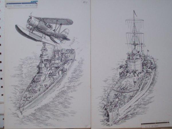 641: Six original pen & ink drawings for Bantam Books c