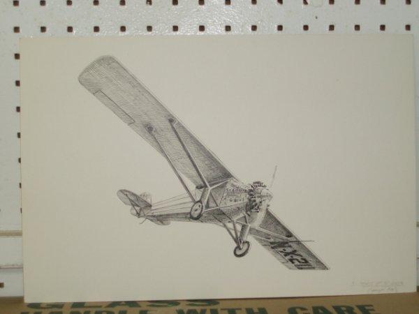 666: Three early 20th c. bi-planes.  Original pen and i