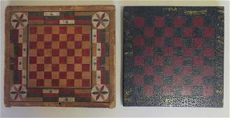 Two American game boards in original paint including a