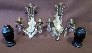 Two pair of decorative objects including 1 A pair of