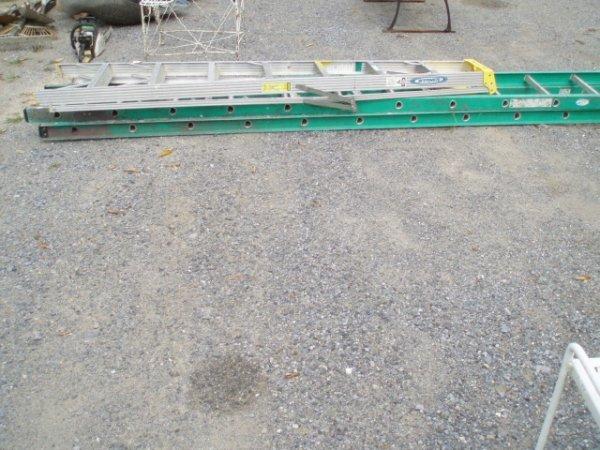 3: 8' Aluminum Stepladder plus 15' Extension Ladder