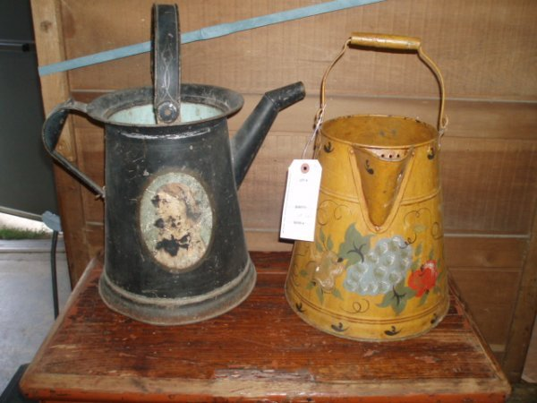 7: Misc. Lot of Country Items inc. Two Iron Grates, Two
