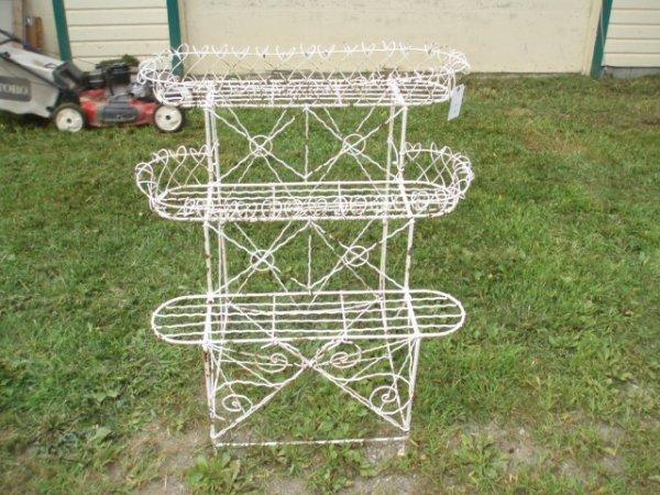 18: Three-Tier Victorian Wire Planter