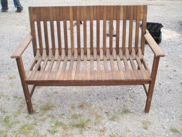 22: Wooden Porch Bench and Matching Wooden Porch Swing