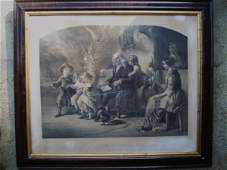 161 Two Large Folio European Prints in Original Frames