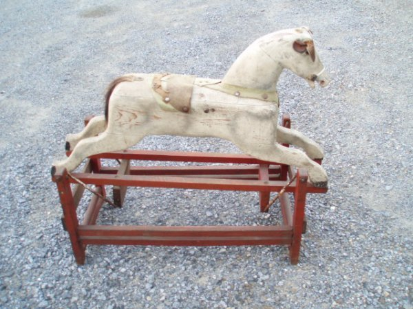 1010: Hobby Horse on Stand in Original Paint