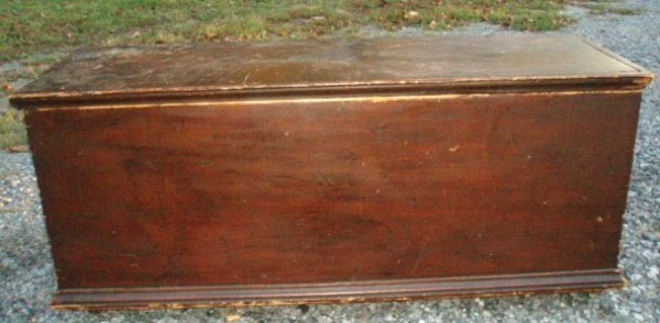 1030: 18th c. Blanket Chest - cotter pin hinges - in re