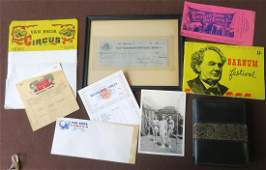 Collection of early circus ephemera including: Henry