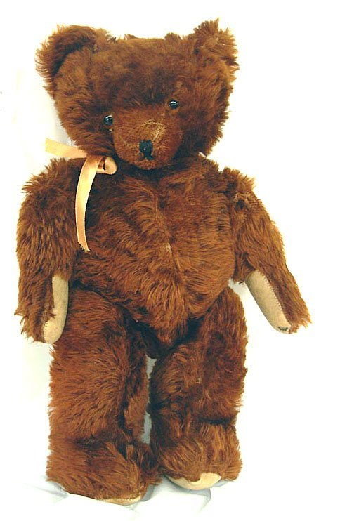 "4: 18"" Old Humpback Mohair Teddy Bear, slight wear on a"