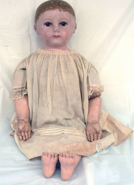 "11: 26"" Chase Type Rolinson Cloth Doll, unmarked, very"