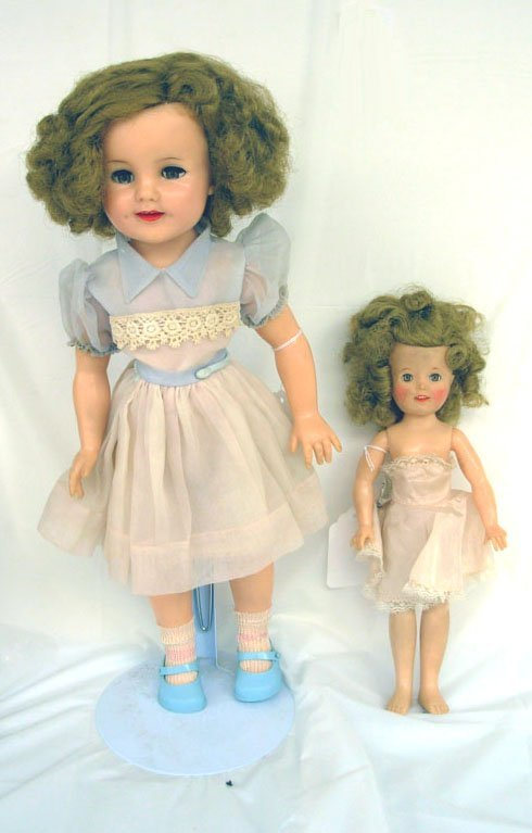 "12: Lot of 2 - Shirley Temple 1957 Vinyl Dolls, 18"" w/o"
