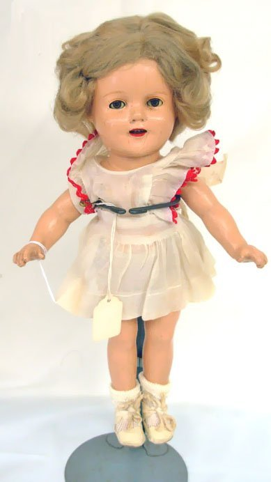 "20: 13"" Shirley Temple Doll, marked on head & body, ori"