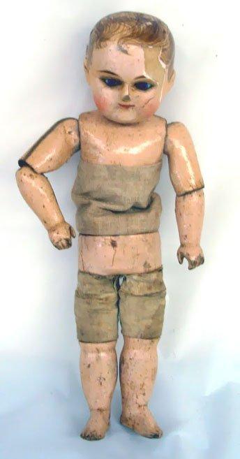 """22: 9"""" Sonneberg Taufling (Motschmann) Boy Doll, blue p"""