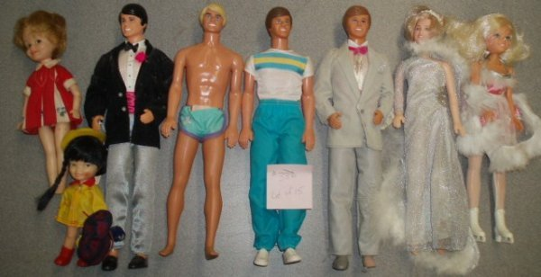 386: Lot of 15 - Assorted 1970's & 1980's Barbie Dolls  - 2