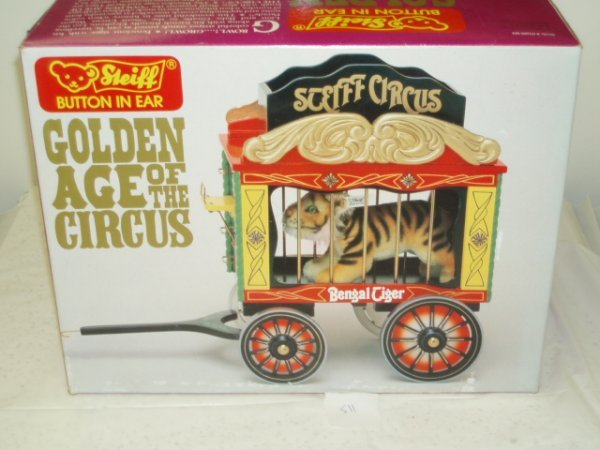 "511: Steiff ""Golden Age of Circus"" Tiger and Wagon Cage"