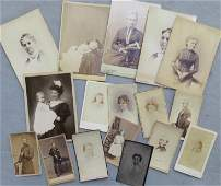 Grouping of vintage photos including: CDV portrait of