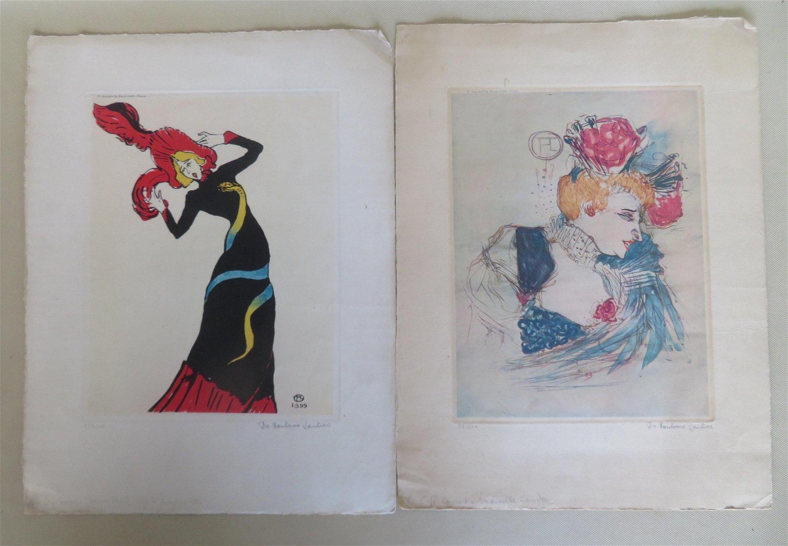 Two limited edition Henri de Toulouse-Lautrec