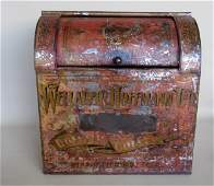 Large stenciled country store coffee bin stenciled