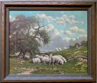 Charles Grant Davidson, NY, 1865-1945. O/C Pastoral