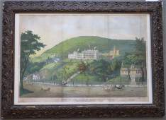 A hand colored large folio lithograph entitled Our
