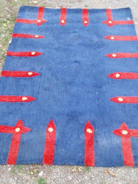 1: Modern scatter rug plus three ornamental modern scul