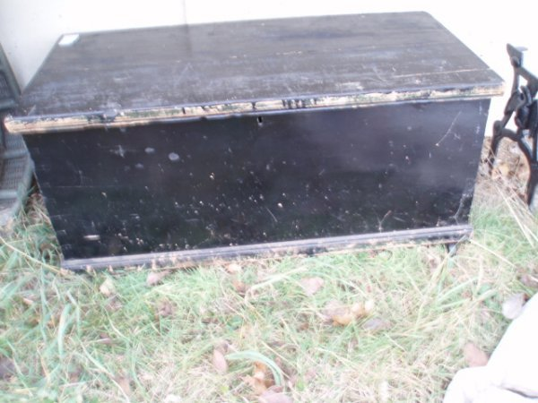 5: 19th c. Blanket Box (in newer black paint)