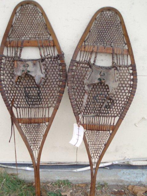 6: Pair of antique snowshoes