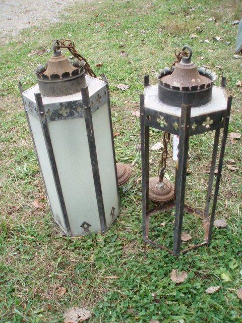 19: Two metal fixtures from old Vassar College building