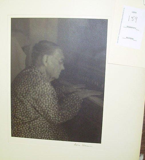 159: Doris Ulmann Platinum print of an elderly lady