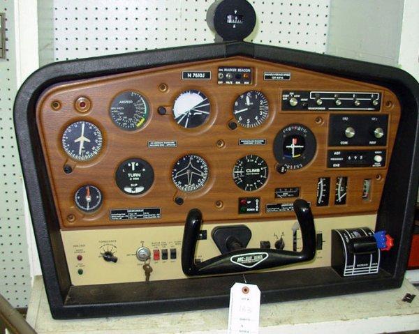 "183: Personal flight simulator signed ""ATC-610"""
