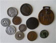 Grouping of coinstokens most American including A