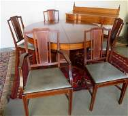 An Edwardian period dining room set in the classical