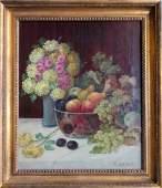 Claude (Claudine) Raguet Hirst, NY/Ohio 1855-1942. O/C