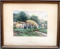 Charles Grant Davidson, NY, 1865-1945. W/C Pastoral