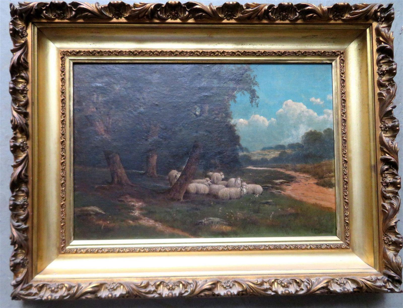 Charles Grant Davidson, NY, 1865-1945. A very fine O/C