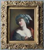 Classical O/C Portrait of woman writing in book with