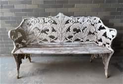 An outstanding cast iron Coalbrookdale fern pattern