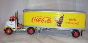 2: Ertl Coca-Cola tractor trailer MIB. 1998 1/25 scale