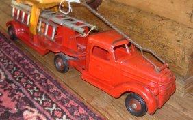 4: Buddy-L International Aerial Ladder Fire tractor tra