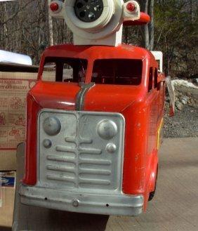 "6: Marx Ridem Fire Truck 30"" lg 1950's very good cond."