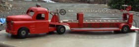 12: Structo Aerial Fire Ladder tractor trailer 33 1/2 l