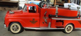 18: Tonka Fire Pumper 1961 & Buddy L Texaco Pumper