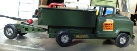 21: Buddy-L; Army Supply Corp truck w/cannon 1950's GMC