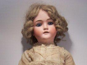 """295: German 28 """" doll signed Walkure - sleepy eyes - mi"""